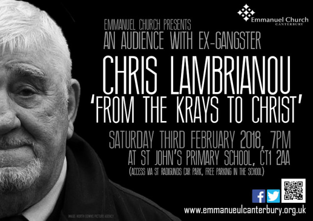 From the Krays to Christ - An audience with ex-gangster Chris Lambrianou